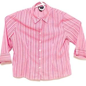 Bay Studio Career Petite PL Women's Button-Up